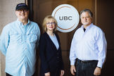 UBC Founders L-R, Paul Pacult, Sue Woodley, David Talbot